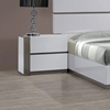 Manila Left Side Nightstand - Glossy White, 2 Drawers - CI-MANILA-NS-L