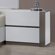 Manila Right Side Nightstand - Glossy White, 2 Drawers