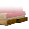 stanford wood futon frame heritage finish nf sfrd