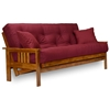 Stanford wood futon frame heritage finish dcg stores for Wood futon frames free shipping