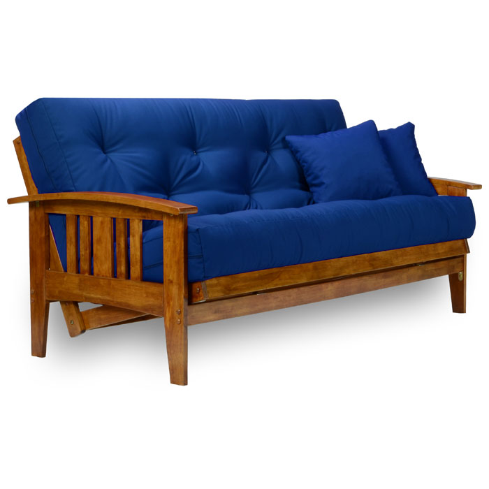 Westfield wood futon frame heritage finish dcg stores for Wood futon frames free shipping