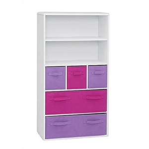 Girls White Storage Bookcase
