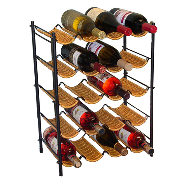 Wicker Wine Rack