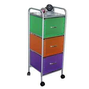 Multicolor 3 Drawer Storage Unit
