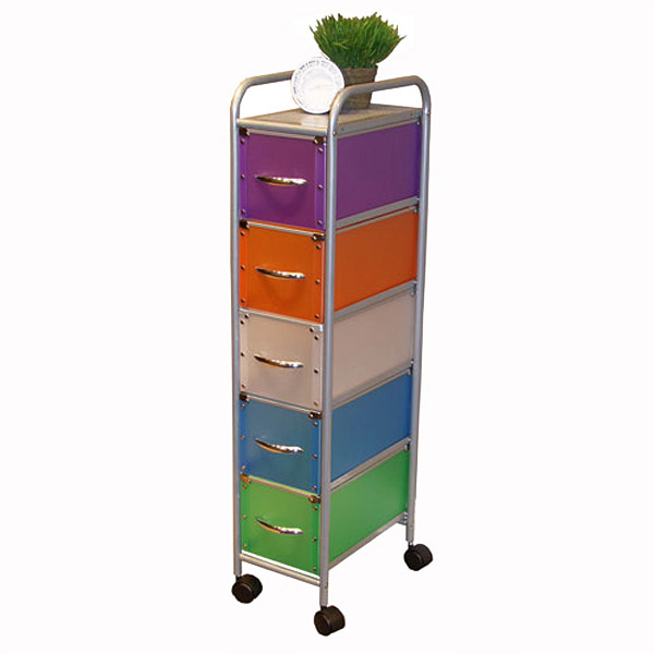 Five Drawer Narrow Space Storage Unit
