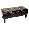 Blackstone Storage Bench - Brown, Button Tufted - 4DC-443745