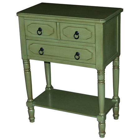 Simple simplicity 3 drawer tall nightstand cottage green How tall is a nightstand