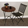 Rolled Metal Folding Chair - Powder Coated Brown - 4DC-55582