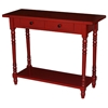 Simple Simplicity Wood Sofa Table - Turned Legs, Cottage Red