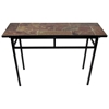 Slate Top Sofa Table - Black Metal Base