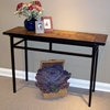 Slate Top Sofa Table - Black Metal Base - 4DC-601636