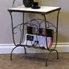 Travertine End Table/Magazine Rack - 4DC-605813