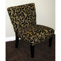 Versize Accent Chair - Brown Flock Upholstery