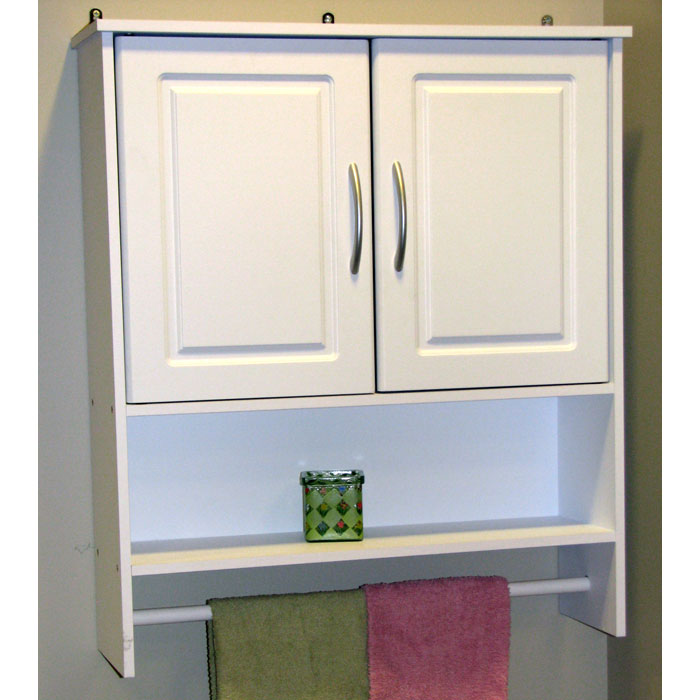 2 Door Bathroom Wall Cabinet White Dcg Stores