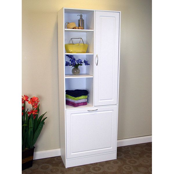 Storage and Laundry Tower in White