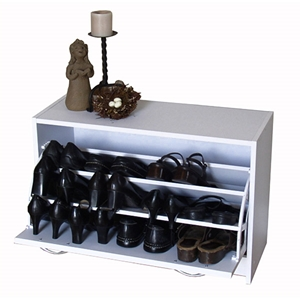 Deluxe Single Shoe Cabinet in White