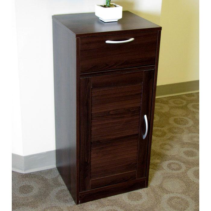 bathroom storage cabinet espresso louvered door 1 drawer dcg
