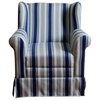 Boys Wingback Chair - Skirt, Rolled Arms, Multi Colored Stripes - 4DC-K3837-A320