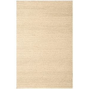 Atlas Ivory Rug - Braided, Hand Woven