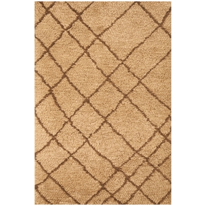 Berber Shag Rug - Tan & Chocolate