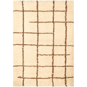 Berber Shag Rug - Off White & Chocolate
