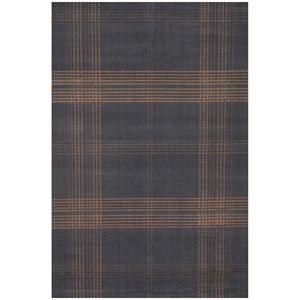 Broadway Plaid Rug - Tan & Blue