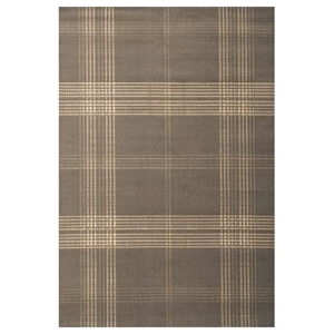 Broadway Plaid Rug - Ivory & Gray