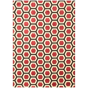 Sonoma Honeycomb Rug - Cranberry