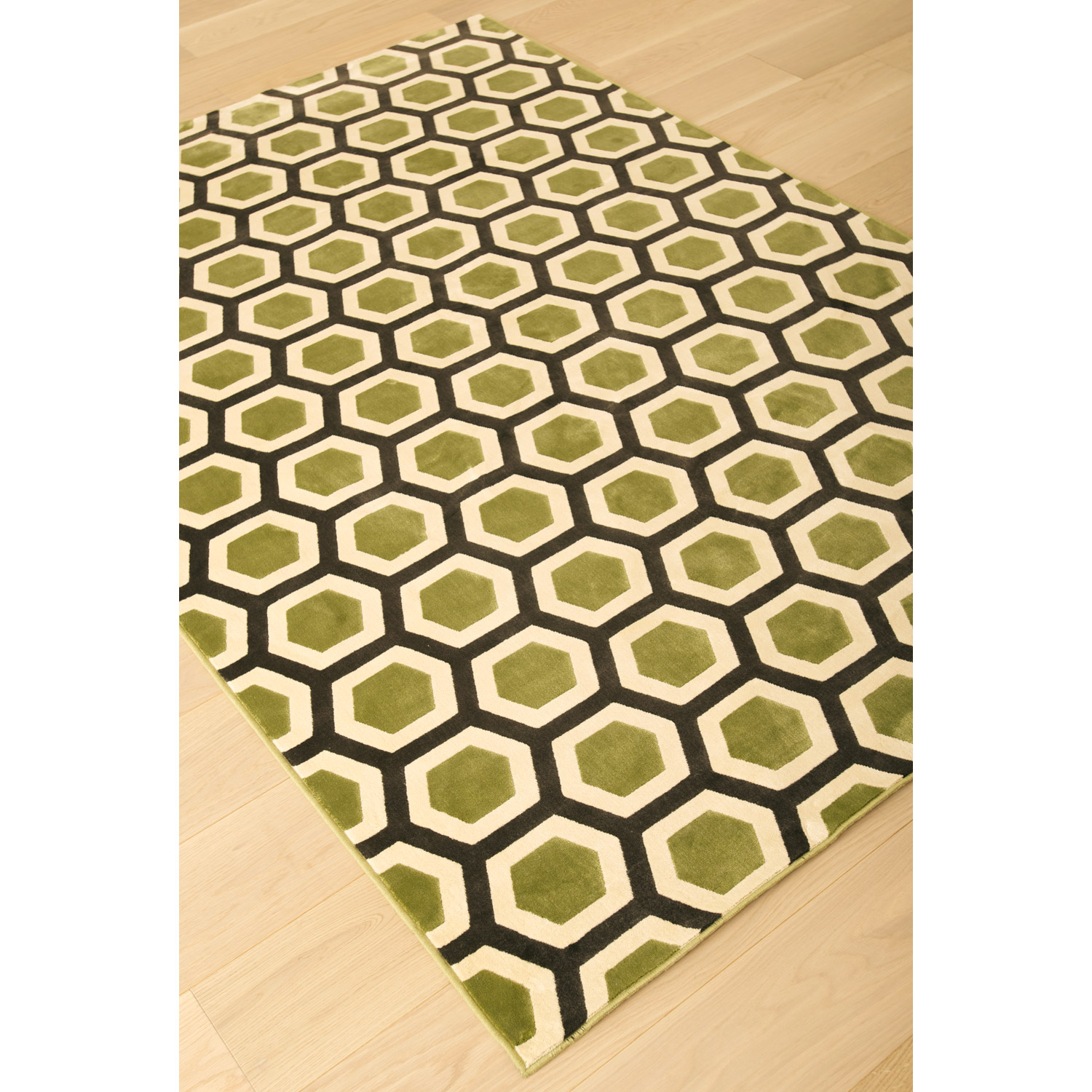 Sonoma Honeycomb Rug - Apple Green