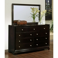 Plaza 9-Drawer Dresser and Mirror