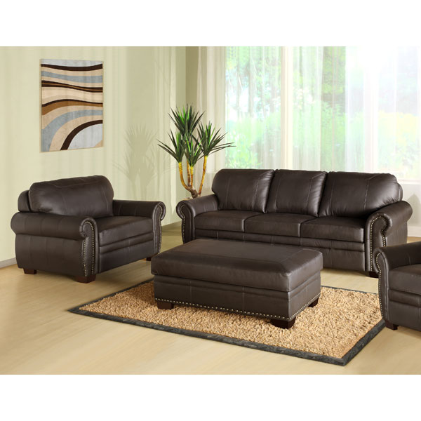Sectional Sofa Sale Birmingham Al: Bellavista Premium Italian Leather Oversized Sofa, Chair