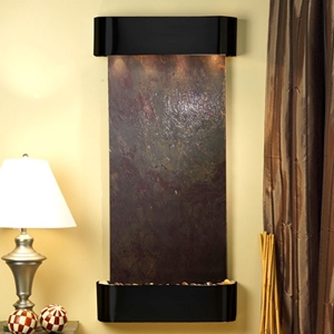 Cascade Springs Rajah Featherstone Wall Fountain - Blackened Copper Frame