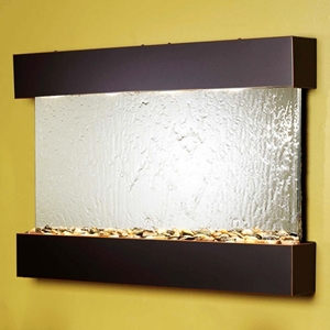 Reflection Creek Blackened Copper Frame Wall Fountain in Silver Mirror