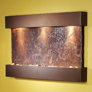 Reflection Creek Rajah Slate Wall Fountain with Bronze Frame