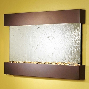Reflection Creek Silver Mirror Wall Fountain with Bronze Frame