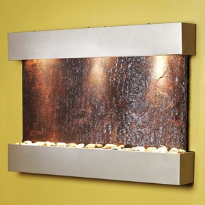 Reflection Creek Silver Metallic Frame Wall Fountain - Rajah Slate