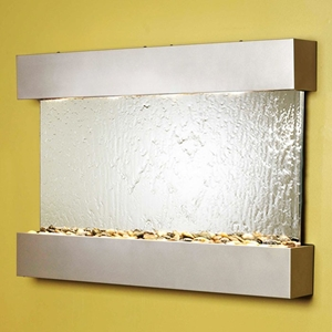 Reflection Creek Silver Metallic Frame Wall Fountain - Silver Mirror