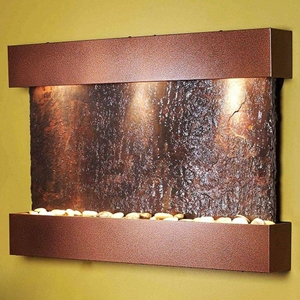 Reflection Creek Rajah Slate Wall Fountain - Copper Vein Frame