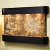 Sunrise Springs Blackened Copper Frame Wall Fountain in Rainforest Brown