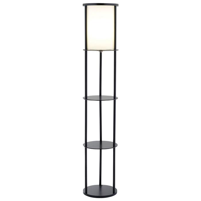 stewart round shelf floor lamp dcg stores. Black Bedroom Furniture Sets. Home Design Ideas