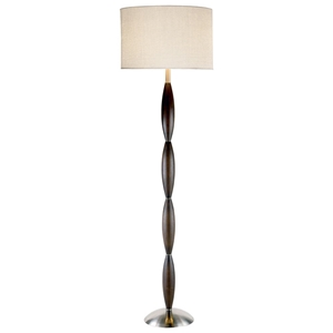 Twist Floor Lamp in Dark Walnut