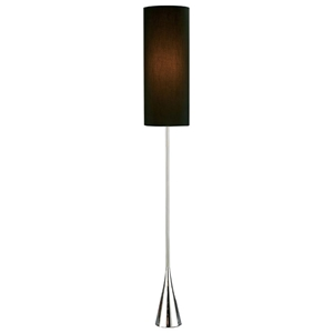 Bella Floor Lamp in Black and Chrome