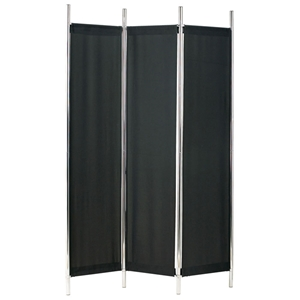 Rita Folding Screen in Black and Chrome