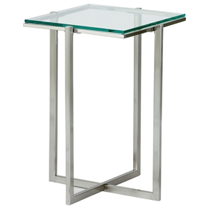 Glacier Small Square Pedestal with Glass Top