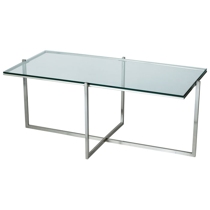 Glacier Rectangular Coffee Table with Glass Top