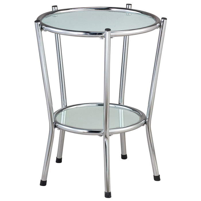 Cosmopolitan Round Glass End Table Dcg Stores