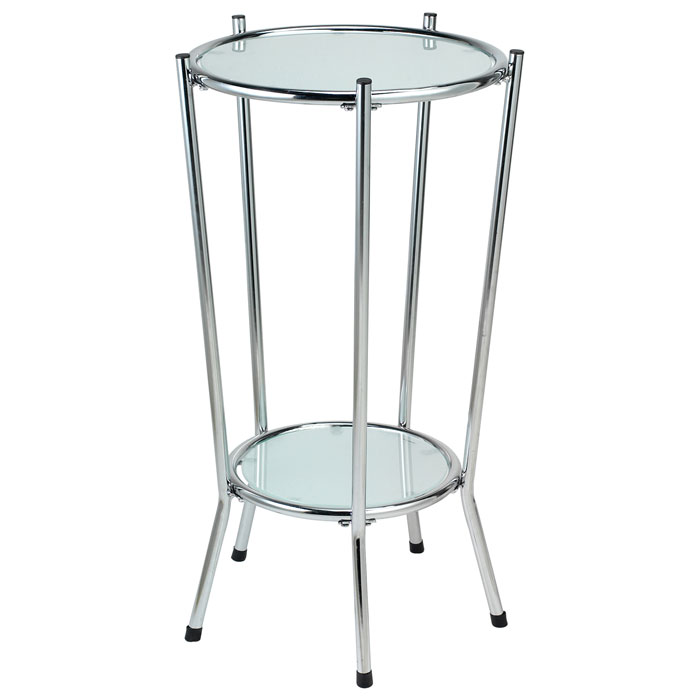 Cosmopolitan Round Glass Tall Pedestal Dcg Stores