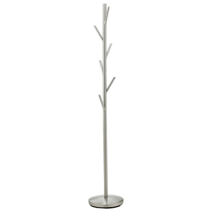 Evergreen Coat Rack in Satin Steel