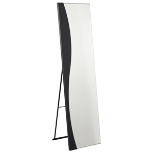 Wave Storage Mirror in Black