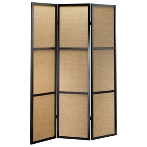 Haiku Folding Screen in Khaki and Black